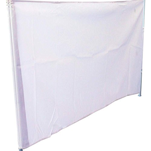Cablematic - Lona Lateral Completa para Carpa Plegable de 450cm Blanca