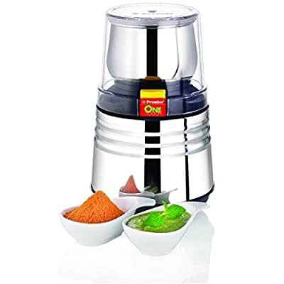 Premier One Touch Electric Wet Chutney & Dry Coffee Bean, Nut,Spice Grinder Mill