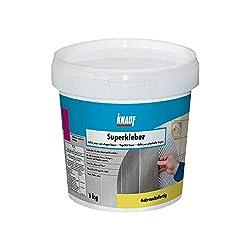 Knauf Superkleber, Dispersions-Kleber, Fliesen-Kleber 1-kg - Fliesen-Klebstoff und Flex-Klebstoff für Dusche und Bad, zur Anwendung beim Fliesen-Legen, innen und außen
