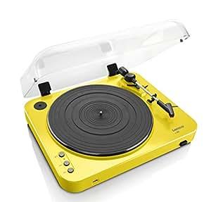 Lenco L-85 Belt-drive audio turntable Jaune - platines (Jaune)