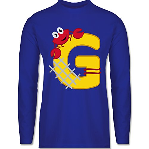 Anfangsbuchstaben - G Schifffahrt - Longsleeve / langärmeliges T-Shirt für Herren Royalblau