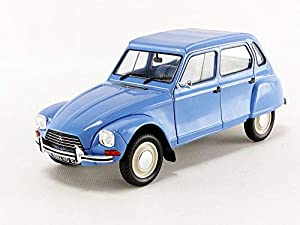 SOLIDO Voiture miniature de collection 1/18eme Citroën Dyane Myosotis 1967 - Bleu
