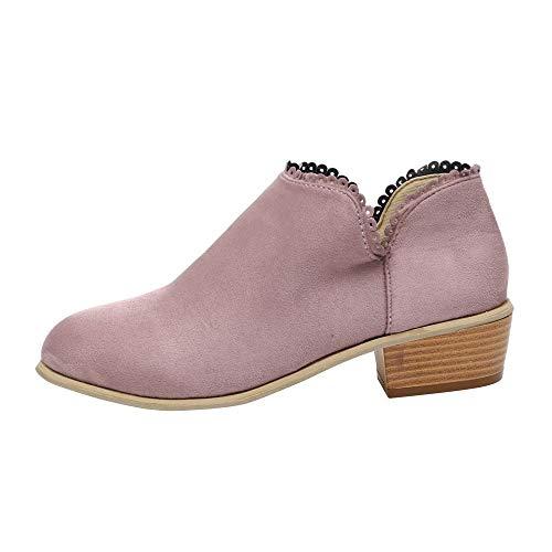 BBestseller Invierno Botas para Mujer Zapatos de otoño Hebilla acentuada con botas poco profundas de color sólido Martin boots