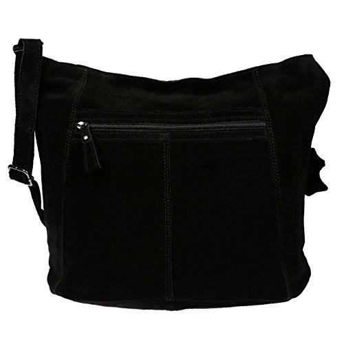 Christian Wippermann Luxus Beuteltasche Damentasche aus butterweichem Wildleder in verschieden Farben Grau Grau
