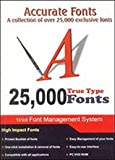 #7: Microware 25,000 Accurate Fonts With Book Plus DVD
