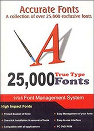 Microware 25,000 Accurate Fonts With Book Plus DVD