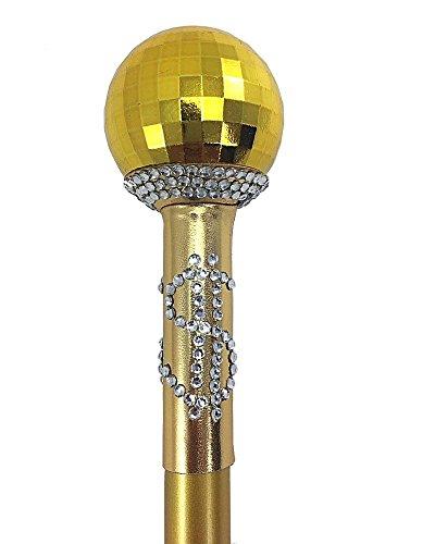 uhälter Stock zerlegbar Dandy Stock Pimp Stick für Herren-Kostüm Gold ()