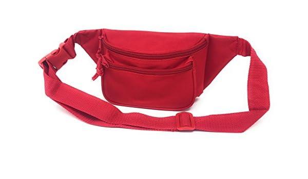 1015-Royal Fanny Pack Purse Travel Pouch Money Passport ID Zipper Waist Belt Bag 3 Pockets