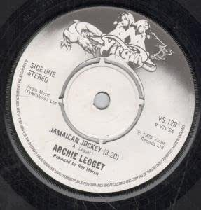 "JAMAICAN JOCKEY 7"" (45) UK VIRGIN 1975 B/W ALBERTO (VS129)"
