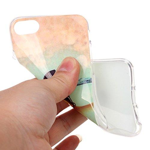 iPhone 7 Coque,iPhone 7 Silikon Case,iPhone 7 Cover - Felfy Ultra Slim Ultra Mince Flexible Souple Soft Gel TPU Silicon Case Clair Cover Coque Housse Couleurs de Motifs Anti Scratch Couverture Coloré  Poisson Rouge