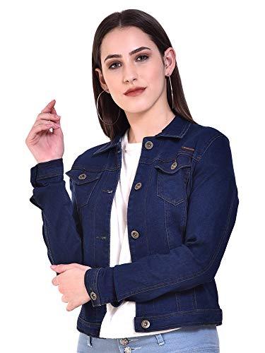 Sangani Women's Cotton Stretch Casual Jacket (Denim Blue, 38)