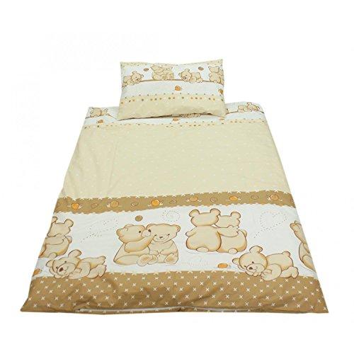 TupTam Kinderbettwäsche Set Gemustert 2 teilig, Farbe: Muster 15, Größe: 135x100 cm