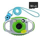 Funkprofi Kamera für Kinder Kinderkamera Fotoapparat Digital Camera Kid Cam Mini Camcorder 5 Megapixel 1,77 Zoll Display Geschenk und Spielzeug für Kinder (Grün mit 16GB TF Karte)