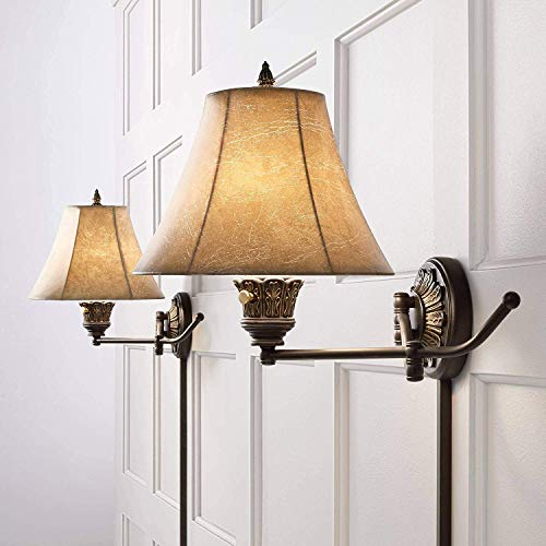 CHTG Rosslyn 2er Set Bronze Plug-In Swing Arm Wandlampen - Bronze 2-glühbirne