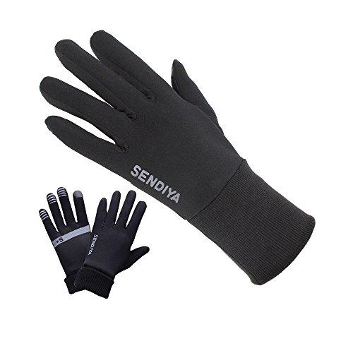 Outdoor Touch Screen Handschuhe I Winddichte Sporthandschuhe mit verlängertem Ärmelbündchen Herren Damen I weiches Polyester I Ideal für Herbst Winter Frühling
