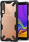 Ringke Fusion-X Custodia Compatibile con Galaxy A7 2018, [Protezione Anti-Caduta Militare] Anti Scivolo Ergonomic Transparent Paraurti TPU Posteriore PC Protettiva Cover Galaxy A7 2018 - Nero