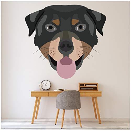 azutura Rottweiler Kopf Hund Wandtattoo in 8 Größen erhältlich Digital -