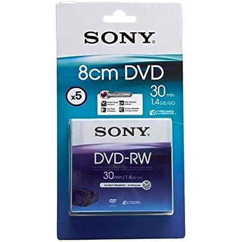 Sony DVD-RW 5DMW30A-BT - DVD+RW vírgenes (1.4 GB, 30 min, 0.74 µm)