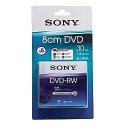 Sony 8cm Dvd-rw 1.4gb30 Min [1x-2x] 5-pack Blister