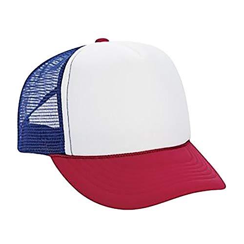 Zottom Männer Frauen Unisex Baseball Cap Jungen Mädchen Farbblock Hysteresenhut Hip Hop Flat Hat (Baseball Kostüm Für Jungen)