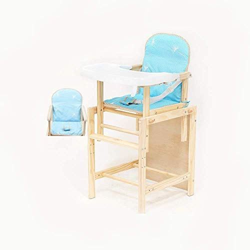 Multifunktionale Kinder Stuhl Baby esszimmerstuhl klappstühle massivholz Sitz Baby Tisch höhenverstellbar (Farbe: kein pad) (Farbe : Add Cushion, Größe : -)