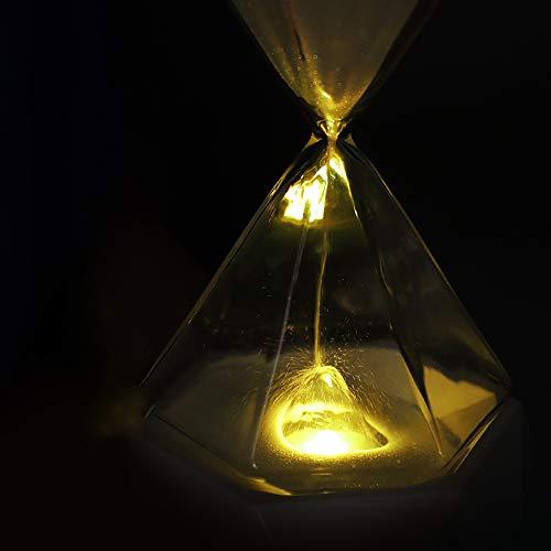 MMRLY Sanddampflampe mit neun Schweinediamanten und Buntem atmosphärischem Nachtlicht mit schlafender Sanduhr