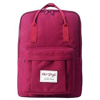 Mochila Escolares Viaje Ligero Impermeable para Notebook 15-Inch (39x27x14cm), Azul Marino