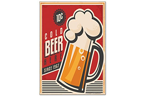 Magneti Calamite frigorifero Birra Bar Pub Birra fredda