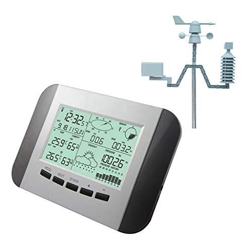 Fenteer Multifontionale Wetterstation mit Außensensor für Temperatur & Luftfeuchtigkeit & Wind & Luftdruck & Niederschlag (Regenmesser), einfach instaliert