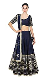 New Latest Designer Party wear Blue Color Bridal Look Heavy Embroidred Banglori silk New Fashionable Lehngha For Women and Girl