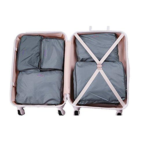 Tasche Veranstalter Reise/Verpackung Koffer Serie W900verschiedene Größen Cubes Aufbewahrungstasche Gepäck Tragegriff für Kleidung Unterwäsche Schuhe Artikel Kosmetik, Super Assistent für voayge Aufe grau