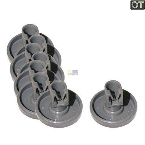AEG 50286965004 Lot de 8roulettes de panier de lave-vaisselle pour panier inférieur