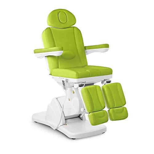 Physa LA PAZ GREEN Fußpflegestuhl elektrisch Kosmetikstuhl grün Kosmetikliege höhenverstellbar Fußpflegeliege mit Fernbedienung und Fußschalter