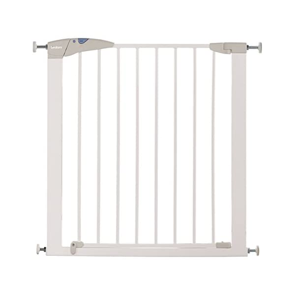 Lindam Sure Shut Axis Pressure Fit Safety Gate 76 - 82 cm, Maximum 117cm With Extension, White