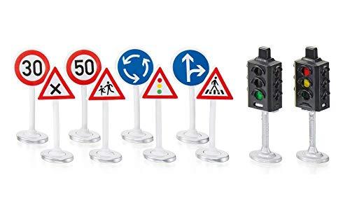 SIKU 5597 - Ampeln mit Verkehrsschildern, Kunststoff, Vielseitig einsetzbar, multicolor