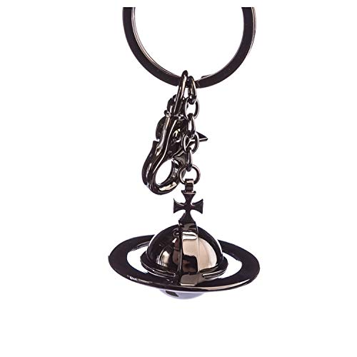 Vivienne Westwood Gadget 3D Orb Keyring in Gunmetal & Black