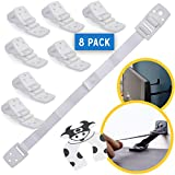 TV and Furniture Anchors for Baby Proofing: Anti Tip Wall Safety Straps - White