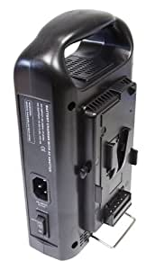 Axcom SM-CPVM-2 - 2 Slot V-Mount Charger with DC Out for V-Mount Batteries