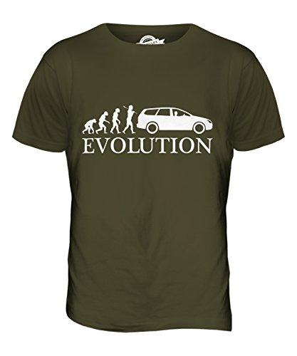 CandyMix Limousine Evolution Des Menschen Herren T Shirt Khaki Grün