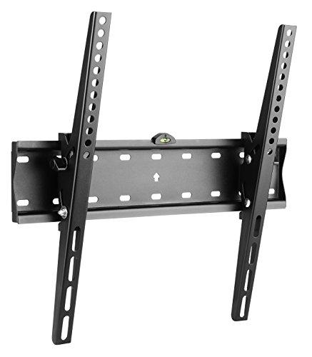 RICOO TV Wandhalterung N2144 Fernseh Universal Halterung Neigbar Aufhängung Curved LCD Wandhalter Fernseherhalterung Wand Halter Flach 81-140cm 32-55 Zoll VESA 200x200 400x400 Schwarz