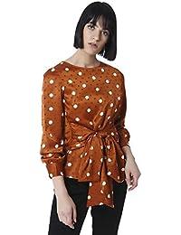 VERO MODA Women's Polka Dot Regular Fit Shirt