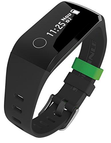 Soehnle Fitnesstracker Fit Connect 200 HR mit Bluetooth-Anbindung, Fitnessarmband mit bis zu 5 Tagen Laufzeit zählt Schritte & Kalorienverbrauch, Fitness Armbanduhr mit Schlafanalyse & Weckfunktion