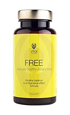 Vital Concept Free - Naturally Healthy Urinary Tract with Golden Rod, White Birch, Nettle Leaves, Cranberry, Asparagus | UTI and Cystitis, Bladder and Kidney Support | 90 Caps, 30 Days Supply