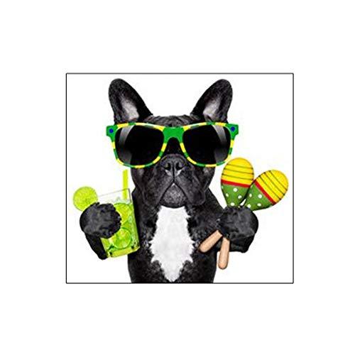 Dabixx 5D DIY Diamant Malerei, Hund - DIY Malerei Kit Malen Nach Zahlen Diamanten Stickerei Malerei Kreuzstich Kit DIY Home Decor