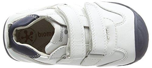 Biomecanics 151157, Mocassins bébé garçon Blanc - Weiß (BLANCO Y AZUL)