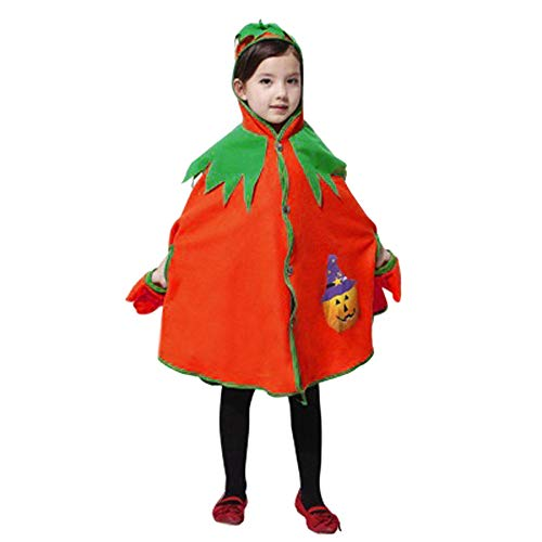 Kobay Kinder Kinder Halloween Kürbis Print Cape Coat Cosplay Leistung ()