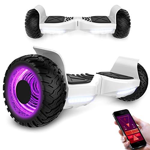 MARKBOARD Hoverboard 8,5 Zoll Elektro Skateboard 700W Motor - Gyropod Modell Bluetooth (LED Weiß)