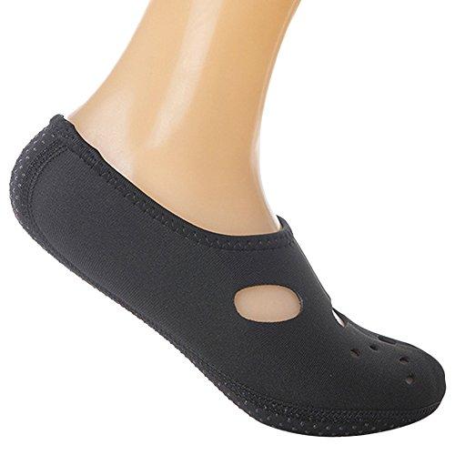 YooGer Diving Socken, Beach Socken Männer Frauen mit 3mm Neopren Anti Slip Socken Perfekt Zum Tauchen Kajakfahren Schwimmen Schnorcheln Bootfahren Yoga (Schwarz Größe: S)