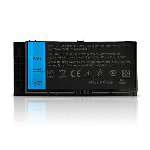 ANTIEE Compatible 9-Cell FV993 Laptop Akku Replacement für Dell Precision M4600 M4700 M4800 M6600 M6700 M6800 Series Notebook FJJ4W PG6RC V7M28 KJ321 11.1V 97WH (Dell Akku Laptop M6600)