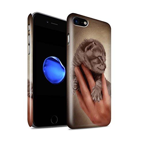 Officiel Elena Dudina Coque / Clipser Brillant Etui pour Apple iPhone 7 / Petit Panda/Bambou Design / Les Animaux Collection Minou/Voir